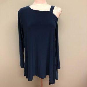Sympli Tunic Shirt: Strut   Blue (PM1826)